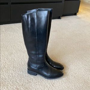 Genuine leather waterproof riding boots